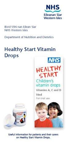 Healthy Start leaflet cover