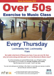 Over 50s Exercise Poster