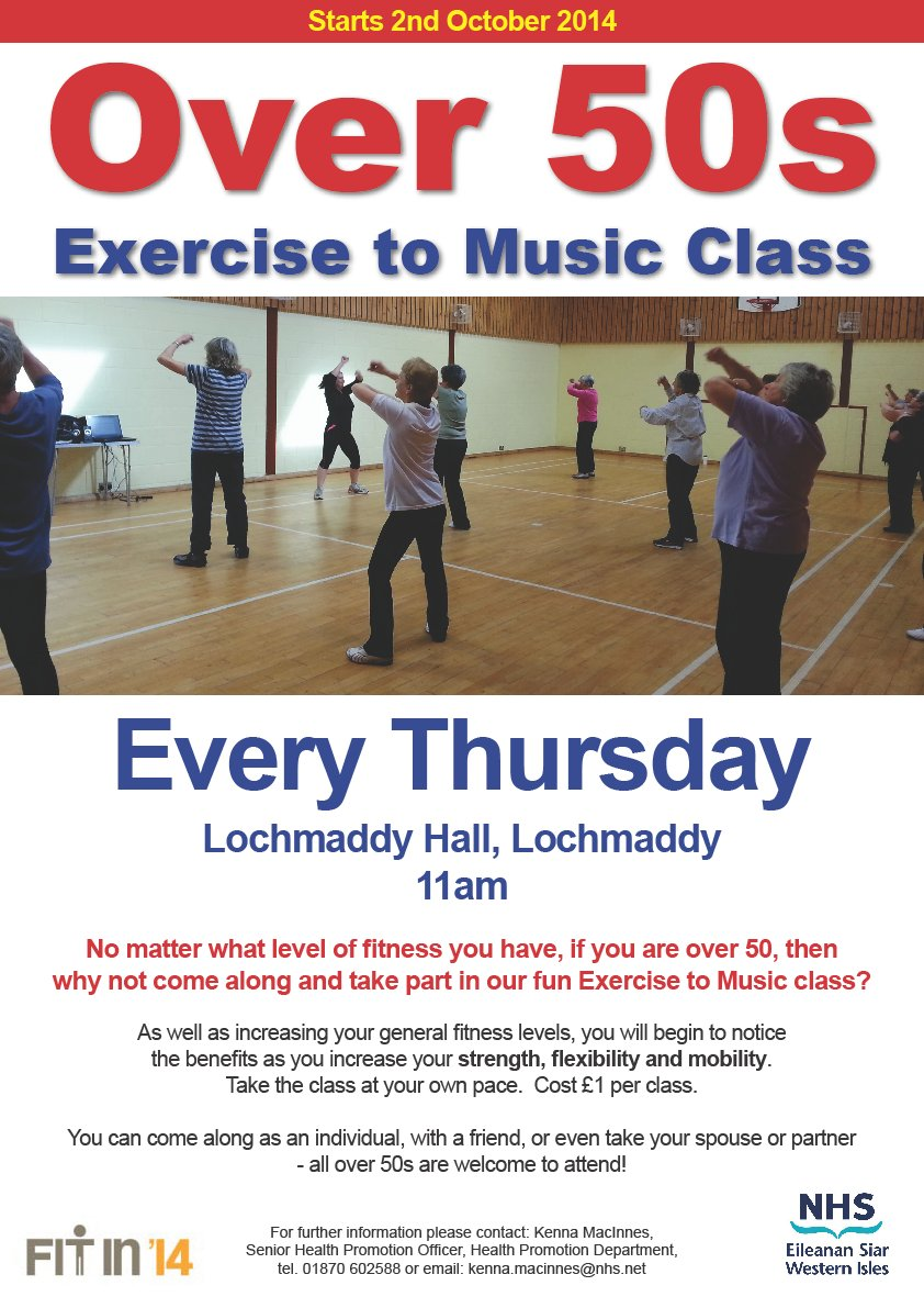 Exercise classes for over 50s