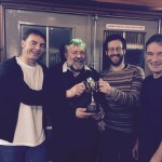 Quiz winners - The Highlanders -George Macleod, Lachlan MacPherson, David Reid, Colin Rice
